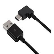 お買い得  携帯電話用ユニバーサルアクセサリ-タイプC USBケーブルアダプタ 携帯用 ハイスピード クイックチャージ 用途 Macbook Samsung Huawei LG Nokia Lenovo Xiaomi Sony 20 cm TPE