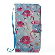 Недорогие Кейсы для iPhone 8-Кейс для Назначение Apple iPhone X iPhone 8 Кошелек Бумажник для карт со стендом Чехол Фламинго Твердый Искусственная кожа для iPhone X