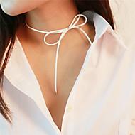 Недорогие $0.99 Модное ювелирное украшение-Жен. Ожерелья-бархатки  -  Бант Милая Белый, Коричневый Ожерелье Назначение Повседневные, Школа