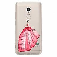 Недорогие Чехлы для телефонов-Кейс для Назначение Xiaomi Redmi Note 4X Redmi Note 4 С узором Кейс на заднюю панель Соблазнительная девушка Мягкий ТПУ для Xiaomi Redmi