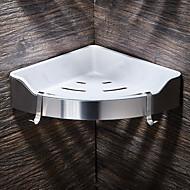 abordables Artículos para el Hogar-Estantería de Baño Alta calidad Acero Inoxidable + ABS de Grado A 1 pieza - Baño del hotel
