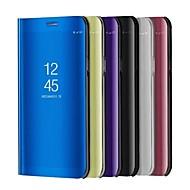お買い得  携帯電話ケース-ケース 用途 Huawei P10 Lite P10 スタンド付き メッキ仕上げ ミラー フリップ オートスリープ/ウェイクアップ フルボディーケース 純色 ハード PUレザー のために P10 Plus P10 Lite P10 P8 Lite (2017) Huawei