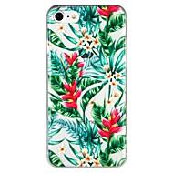 Недорогие Кейсы для iPhone 8 Plus-Кейс для Назначение Apple iPhone 6 iPhone 7 Полупрозрачный С узором Рельефный Кейс на заднюю панель Цветы дерево Мультипликация Мягкий ТПУ