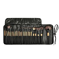מקצועי מברשות איפור סטי מברשת 24pcs ידידותי לסביבה מקצועי רך כיסוי מלא סינטטי שיער סינטטי עץ מברשות איפור ל