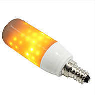 abordables Bulbos de decoración-ZDM® 1pc 3 W 250-280 lm E14 / E26 / E27 Bombillas LED de Globo / Bombillas LED de Mazorca 108 Cuentas LED SMD 2835 Creativo / Decorativa / Llama parpadeante Amarillo 85-265 V