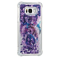 Недорогие Чехлы и кейсы для Galaxy S8-Кейс для Назначение SSamsung Galaxy S8 Plus S8 Защита от удара Движущаяся жидкость С узором Кейс на заднюю панель Ловец снов Мягкий ТПУ