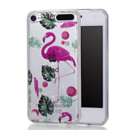 cheap iPod Cases/Covers-Case For iTouch 5/6 with Stand IMD Pattern Full Body Cases Hard