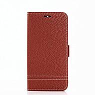 お買い得  携帯電話ケース-ケース 用途 Huawei Y6 (2017)(Nova Young) Y5 III(Y5 2017) カードホルダー ウォレット スタンド付き フリップ フルボディーケース 純色 ハード PUレザー のために Huawei Y7 Prime(Enjoy 7 Plus)