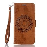 お買い得  携帯電話ケース-ケース 用途 Huawei Y6 II / Honor Holly 3 Y5 II / Honor 5 カードホルダー ウォレット スタンド付き フリップ エンボス加工 フルボディーケース 曼荼羅 ハード PUレザー のために Huawei Y6 II / Honor