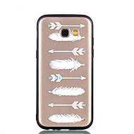 billige Etuier / covers til Galaxy A-modellerne-Etui Til Samsung Galaxy A8 2018 A8 Plus 2018 Transparent Mønster Præget Bagcover Fjer Hårdt PC for A5(2018) A7(2018) A3 (2017) A5 (2017)
