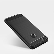お買い得  携帯電話ケース-ケース 用途 Huawei P10 Lite P10 つや消し バックカバー 純色 ソフト TPU のために P10 Plus P10 Lite P10 P8 Lite (2017)