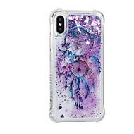 Недорогие Кейсы для iPhone 8-Кейс для Назначение Apple iPhone X iPhone 8 Plus Движущаяся жидкость С узором Кейс на заднюю панель Сияние и блеск Ловец снов Мягкий ТПУ