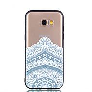 Недорогие Чехлы и кейсы для Galaxy А-Кейс для Назначение SSamsung Galaxy A8 2018 A8 Plus 2018 Прозрачный С узором Рельефный Кейс на заднюю панель Мандала Твердый ПК для