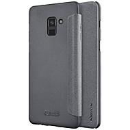 お買い得  -ケース 用途 Samsung Galaxy A8 2018 A8 Plus 2018 フリップ つや消し 純色 ハード のために