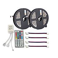 preiswerte -ZDM® 300 LEDs 2x 5M LED-Streifenleuchte 1 44Tastenfernbedienung 4 Anschlüsse RGB Schneidbar Selbstklebend DC 12V