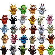cheap Toys & Hobbies-22cm Different Cartoon Animal Finger Puppets Soft Velvet Dolls Props Toys