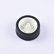 お買い得  Arduino 用アクセサリー-カニ王国®DIY教育車パーツ車輪タイヤモータータイヤ1本白黒#1