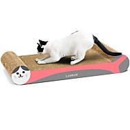 고양이 고양이 장난감 반려동물 장난감 스크래치 아트 종이 & 종이공예 아트 프린트 멀티 색상 스크래치 패드 다이어트에 도움 고품질 종이 캣닢 골판지 종이 애완 동물
