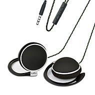 お買い得  -LIZU TY906 イヤフック ケーブル ヘッドホン 動的 銅 携帯電話 イヤホン マイク付き ヘッドセット