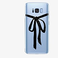 olcso Galaxy S7 tokok-Case Kompatibilitás Samsung Galaxy S8 Plus / S8 Minta Fekete tok Vonalak / hullámok / Rajzfilm Puha TPU mert S8 Plus / S8 / S7 edge