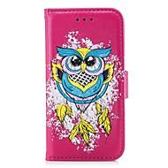 Недорогие Чехлы и кейсы для Galaxy S7 Edge-Кейс для Назначение SSamsung Galaxy S8 Plus S8 Бумажник для карт Кошелек со стендом Флип Рельефный Чехол Сова Твердый Кожа PU для S8 Plus