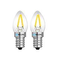 お買い得  LED ボール型電球-BRELONG® 2pcs 2W 120lm E14 E12 LEDボール型電球 2 LEDビーズ 温白色 ホワイト レッド 220V