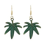 Women's Drop Earrings - Leaf, Coconut Tree Simple, Basic Green For Daily / Date