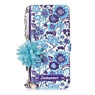 Недорогие Чехлы и кейсы для Galaxy S-Кейс для Назначение SSamsung Galaxy S8 Plus S8 Бумажник для карт со стендом Флип С узором Своими руками Цветы Твердый для