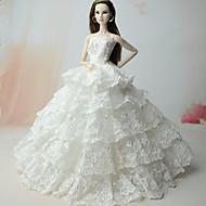 abordables Muñecas y juguetes rellenos-Boda Vestidos por Muñeca Barbie  Vestidos por Chica de muñeca de juguete