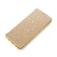 Недорогие Чехлы и кейсы для Galaxy Note 8-Кейс для Назначение SSamsung Galaxy Note 8 Бумажник для карт Покрытие Флип Чехол Сплошной цвет Сияние и блеск Твердый Кожа PU для Note 8
