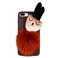 Недорогие Кейсы для iPhone 8 Plus-Кейс для Назначение Apple iPhone X iPhone 8 Своими руками Кейс на заднюю панель Мультипликация Мягкий текстильный для iPhone X iPhone 8