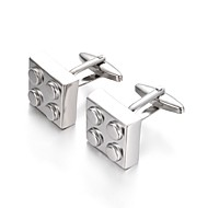 Geometric Silver Cufflinks Simple Fashion Gift Office & Career Men's Costume Jewelry