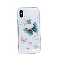 Недорогие Кейсы для iPhone-Кейс для Назначение Apple iPhone X iPhone 8 Plus IMD С узором Сияние и блеск Кейс на заднюю панель Бабочка Мягкий ТПУ для iPhone X iPhone