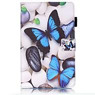 Недорогие Чехлы и кейсы для Samsung Tab-Кейс для Назначение SSamsung Galaxy Tab A 8.0 (2017) Бумажник для карт Кошелек со стендом С узором Авто Режим сна / Пробуждение Чехол
