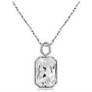 abordables Plata de ley-Mujer Cristal / Zirconia Cúbica Collares con colgantes - Cristal, Zirconio, Plateado Clásico Plata Gargantillas 1 Para Fiesta, Formal