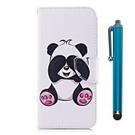 Недорогие Чехлы и кейсы для Galaxy Note-Кейс для Назначение SSamsung Galaxy Note 8 Бумажник для карт Кошелек со стендом Флип Магнитный Чехол Панда Твердый Кожа PU для Note 8