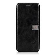Недорогие Чехлы и кейсы для Galaxy S8-Кейс для Назначение Samsung S9 S9 Plus Бумажник для карт Флип Магнитный Чехол Сплошной цвет Твердый Кожа PU для S9 Plus S9 S8 Plus S8
