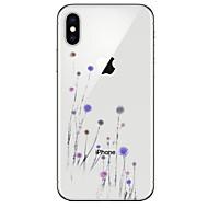 Недорогие Кейсы для iPhone 8 Plus-Кейс для Назначение Apple iPhone X iPhone 8 Прозрачный С узором Кейс на заднюю панель одуванчик Мягкий ТПУ для iPhone X iPhone 8 Pluss