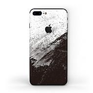 Недорогие Защитные плёнки для экрана iPhone-1 ед. Наклейки для Защита от царапин Черный и белый Узор PVC iPhone 8 Plus