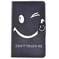 Недорогие Чехлы и кейсы для Samsung Tab-Кейс для Назначение SSamsung Galaxy Tab 3 Lite Бумажник для карт / со стендом / Флип Чехол Слова / выражения Твердый Кожа PU для Tab 3 Lite