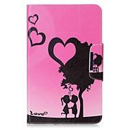 Недорогие Чехлы и кейсы для Galaxy Tab 4 7.0-Кейс для Назначение Samsung Tab 4 7.0 Tab S2 9.7 Tab E 8.0 Tab A 9.7 Tab A 10.1 (2016) Бумажник для карт Кошелек со стендом С узором Авто