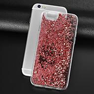 Недорогие Кейсы для iPhone 8-Кейс для Назначение Apple iPhone 8 iPhone 8 Plus Стразы Движущаяся жидкость Прозрачный Кейс на заднюю панель Сияние и блеск Твердый ПК для