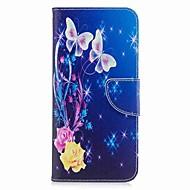 Недорогие Чехлы и кейсы для Galaxy S9-Кейс для Назначение Samsung S9 Plus / S9 Кошелек / Бумажник для карт / со стендом Чехол Бабочка Твердый Кожа PU / ТПУ для S9 / S9 Plus / S8 Plus