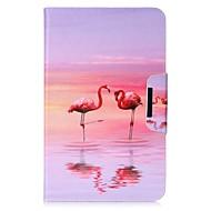 Недорогие Чехлы и кейсы для Galaxy Tab 4 7.0-Кейс для Назначение Samsung Tab 4 7.0 Tab Pro 8.4 Tab E 9.6 Tab E 8.0 Tab A 9.7 Бумажник для карт Кошелек со стендом С узором Авто Режим