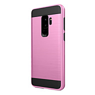 Недорогие Чехлы и кейсы для Galaxy S-Кейс для Назначение SSamsung Galaxy S9 Plus Защита от удара Кейс на заднюю панель Сплошной цвет Твердый пластик для S9 Plus