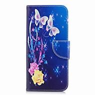Недорогие Чехлы и кейсы для Galaxy S7 Edge-Кейс для Назначение SSamsung Galaxy S9 S9 Plus Бумажник для карт Кошелек со стендом С узором Чехол Бабочка Твердый Кожа PU для S9 Plus S9