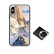 Недорогие Кейсы для iPhone 8-Кейс для Назначение Apple iPhone X iPhone 8 со стендом Ультратонкий С узором Кейс на заднюю панель Пейзаж Геометрический рисунок Твердый