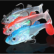 お買い得  釣り用アクセサリー-3 pcs ルアー Shad 海釣り / フライフィッシング / ベイトキャスティング / 穴釣り / スピニング / ジギング / 川釣り / 鯉釣り