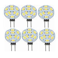 お買い得  -SENCART 6本 2W 360lm G4 LED2本ピン電球 T 9 LEDビーズ SMD 5730 装飾用 温白色 12V