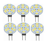 halpa -SENCART 6kpl 2 W LED Bi-Pin lamput 360 lm G4 T 9 LED-helmet SMD 5730 Koristeltu Lämmin valkoinen 12 V